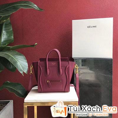 Túi Xách Celine Siêu Cấp Nano Luggage Màu Đỏ Đô
