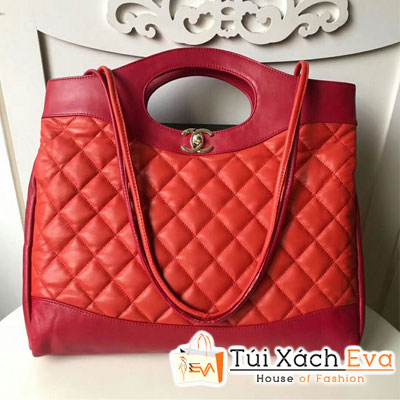 Túi Xách Chanel 31 Large Shopping Bag Siêu Cấp Màu Đỏ