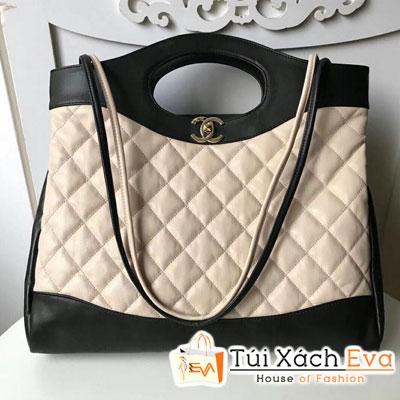 Túi Xách Chanel 31 Large Shopping Bag Siêu Cấp Màu Kem
