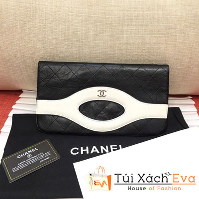 Túi Xách Chanel 31 Pouch Siêu Cấp  Màu Đen Viền Trắng A70521