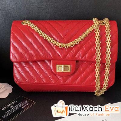 Túi Xách Chanel Aged Metallic Siêu Cấp Màu Đỏ Da Nhăn