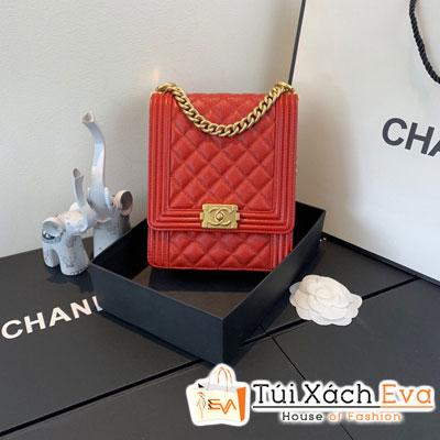 Túi Xách Chanel Boy Handbag Siêu Cấp Màu Đỏ AS0130