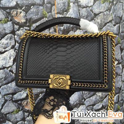 Túi Xách Chanel Boy Siêu Cấp Khóa Vàng Màu Đen