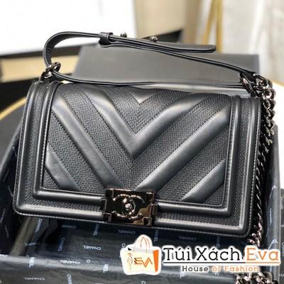 Túi Xách Chanel Boy Siêu Cấp Màu Đen