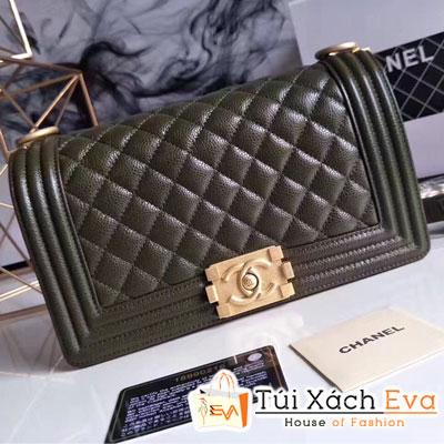 Túi Xách Chanel Boy Siêu Cấp Màu Xanh Rêu Đẹp