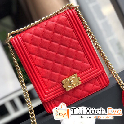Túi Xách Chanel Boy Siêu Cấp Mini Màu Đỏ