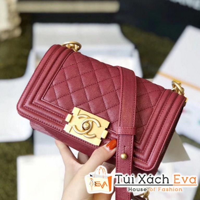 Túi Xách Chanel Boy Siêu Cấp Mini Màu Đỏ Đô