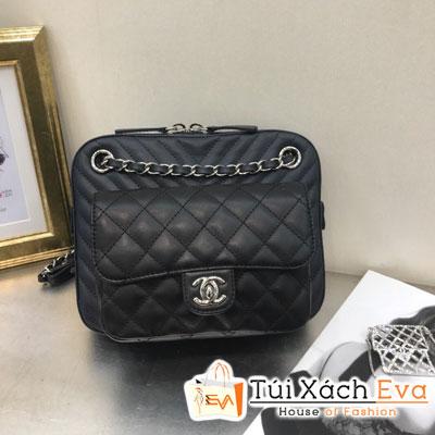 Túi Xách Chanel Camera Case Siêu Cấp Màu Đen