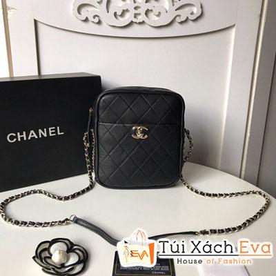 Túi Xách Chanel Camera Case Siêu Cấp Màu Đen AS0139