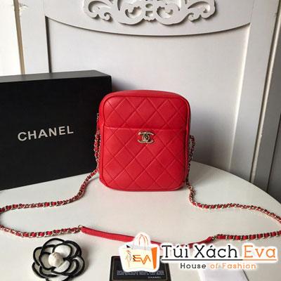 Túi Xách Chanel Camera Case Siêu Cấp Màu Đỏ AS0139