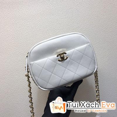 Túi Xách Chanel Camera Case Siêu Cấp Màu Trắng Y84157