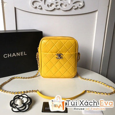 Túi Xách Chanel Camera Case Siêu Cấp Màu Vàng AS0139