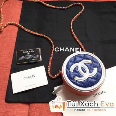 Túi Xách Chanel Tròn Siêu Cấp Màu Cam