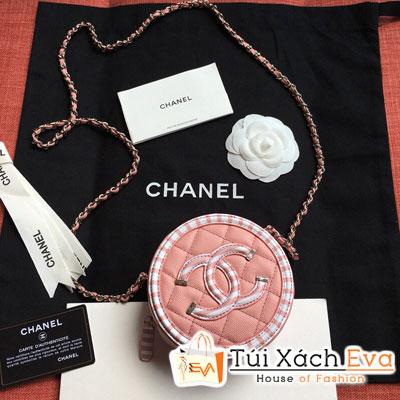 Túi Xách Chanel  Tròn Siêu Cấp Màu Hồng