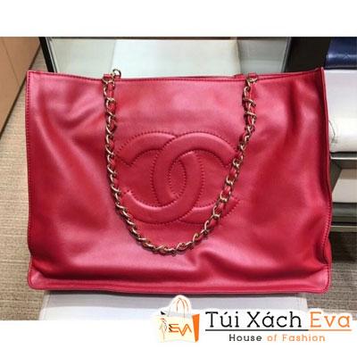 Túi Xách Chanel Cc Logo Shopping Tote Bag Siêu Cấp Màu Đỏ a78009