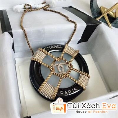 Túi Xách Chanel Chain Resin Siêu Cấp Tròn Màu Đen a94672