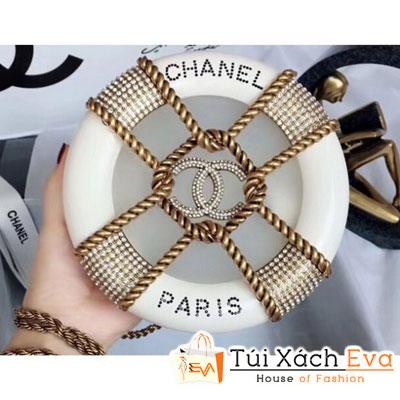 Túi Xách Chanel Chain Resin Siêu Cấp Tròn Màu Trắng  a94672