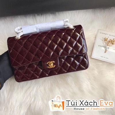 Túi Xách Chanel Classic Flap Bag Siêu Cấp Màu Đò Đô Da Bóng 1112