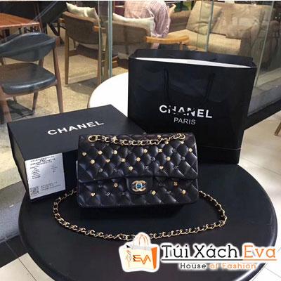 Túi Xách Chanel Classic Handbag Siêu Cấp Màu Đen Đính Phụ Kiện CF 1112