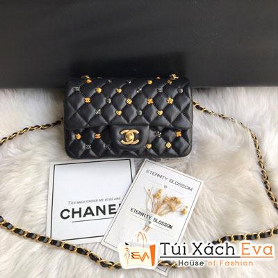 Túi Xách Chanel Classic Handbag Siêu Cấp Màu Đen Đính Phụ Kiện CF 1116