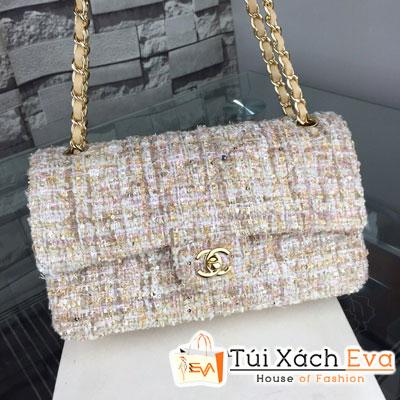 Túi Xách Chanel Classic Handbag Siêu Cấp Màu Kem