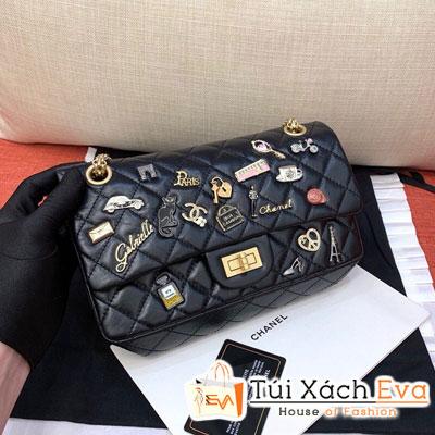 Túi Xách Chanel Classic Handbags  Siêu Cấp Đính Phụ Kiện Màu Đen