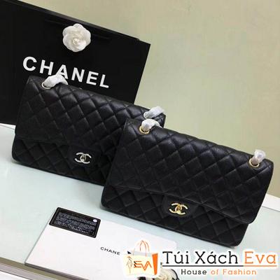 Túi Xách Chanel Classic Siêu Cấp Màu Đen Da Hạt