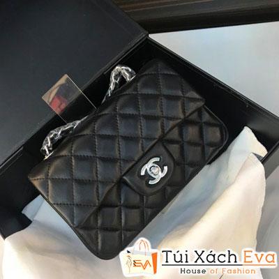 Túi Xách Chanel Classic Siêu Cấp Màu Đen Khóa Bạc Đẹp