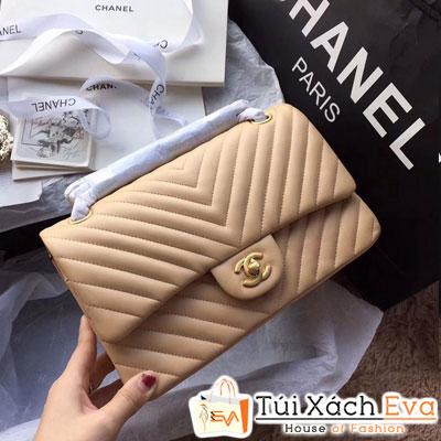 Túi Xách Chanel Classic Siêu Cấp Màu Nude