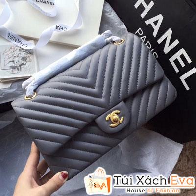 Túi Xách Chanel Classic Siêu Cấp Màu Xám Đẹp