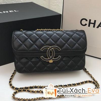Túi Xách Chanel Classic Siêu Cấp Nắp Gập Logo Màu Đen