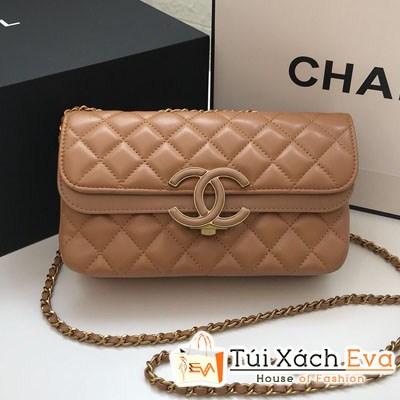 Túi Xách Chanel Classic Siêu Cấp Nắp Gập Logo Màu Nude