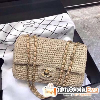 Túi Xách Chanel Classic Siêu Cấp Vải Nỉ Màu Kem
