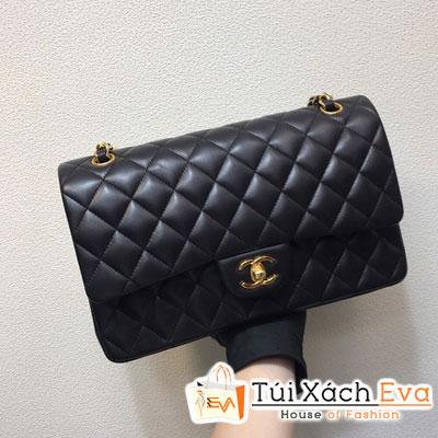 Túi Xách Chanel Classic Siêu Vip Da Lì Khóa Vàng Màu Đen