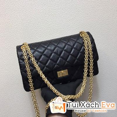 Túi Xách Chanel Classic Siêu Vip Da Nhăn Khóa Vàng Màu Đen