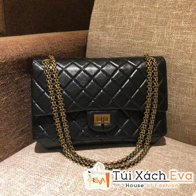 Túi Xách Chanel Classic Siêu Vip Da Nhăn Màu Đen