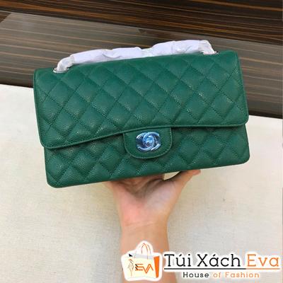 Túi Xách Chanel Classic Siêu Vip Màu Xanh Lá