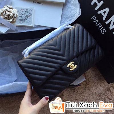 Túi Xách Chanel Classic V Siêu Cấp Màu Đen đẹp