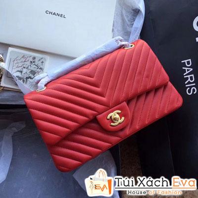 Túi Xách Chanel Classic V Siêu Cấp Màu Đỏ