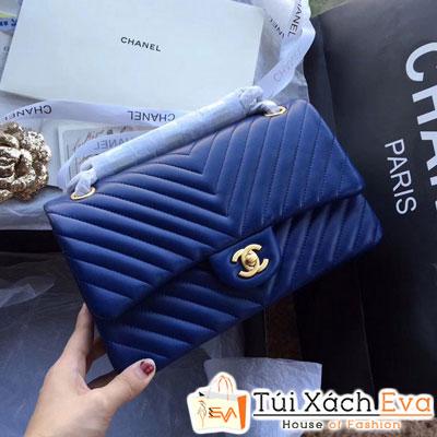 Túi Xách Chanel Classic v Siêu Cấp Màu Xanh Đậm