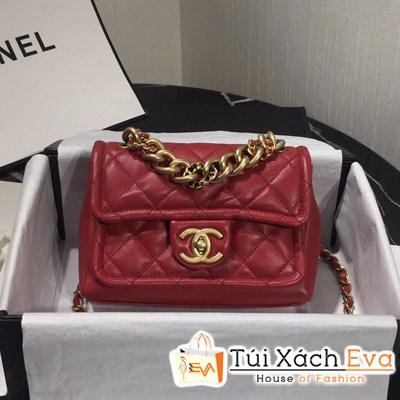 Túi Xách Chanel Classic Xích To Siêu Cấp Màu Đỏ