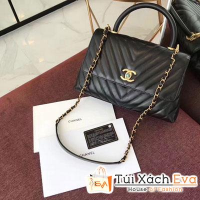 Túi Xách Chanel Coco Handle Siêu Cấp Màu Đen
