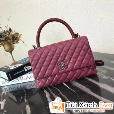 Túi Xách Chanel Coco Handle Siêu Cấp Màu Đỏ Đô