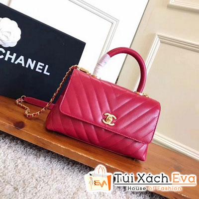 Túi Xách Chanel Coco Handle Siêu Cấp Màu Đỏ Tươi