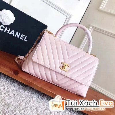 Túi Xách Chanel Coco Handle Siêu Cấp Màu Hồng