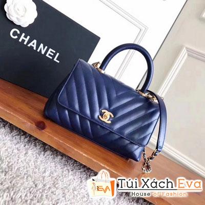Túi Xách Chanel Coco Handle Siêu Cấp Màu Xanh Dương
