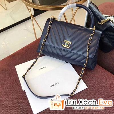 Túi Xách Chanel Coco Handle Siêu Cấp Màu Xanh Dương Đậm