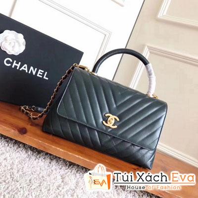 Túi Xách Chanel Coco Handle Siêu Cấp Màu Xanh Lá