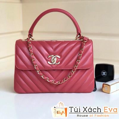 Túi Xách Chanel Coco Nẹp Sắt Siêu Cấp Màu Hồng