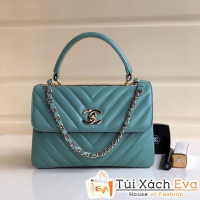 Túi Xách Chanel Coco Nẹp Sắt Siêu Cấp Màu Xanh Dương